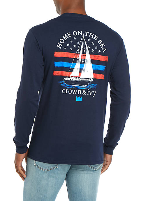 Crown & Ivy™ Long Sleeve Home Yacht T-Shirt