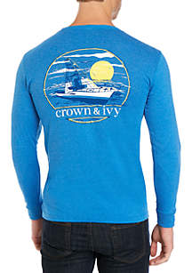Crown & Ivy™ Long Sleeve Sport Fishing T-Shirt
