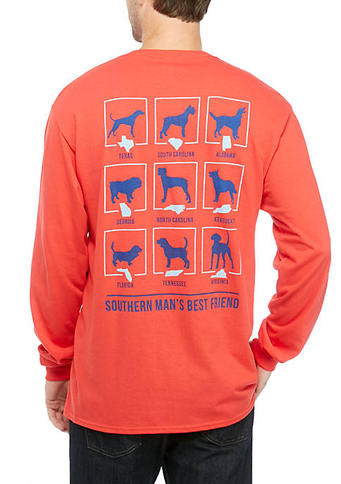 Crown & Ivy™ Mens Long Sleeve Southern Dogs