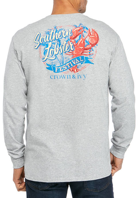 Mens Long Sleeve Lobster Festival T-Shirt