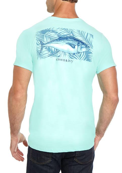 Crown & Ivy™ Mens Tuna Palm Graphic T-Shirt