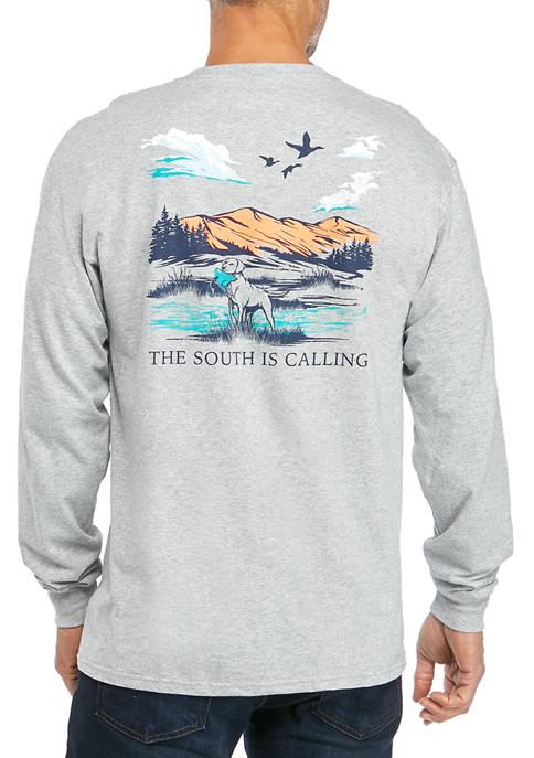 Crown & Ivy™ Mens Long Sleeve Hunt T-Shirt