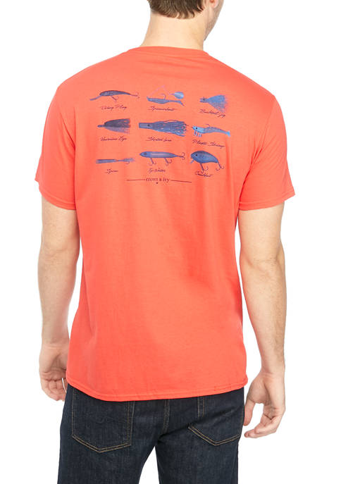 Crown & Ivy™ Mens Saltwater Angler Graphic T-Shirt