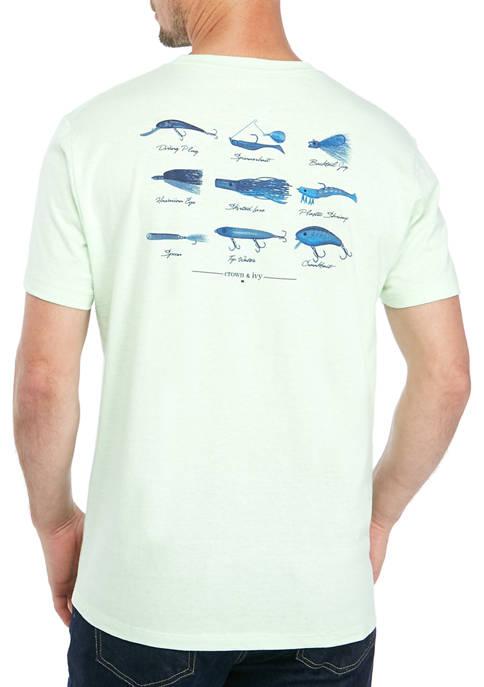 Crown & Ivy™ Mens Saltwater Angler T-Shirt
