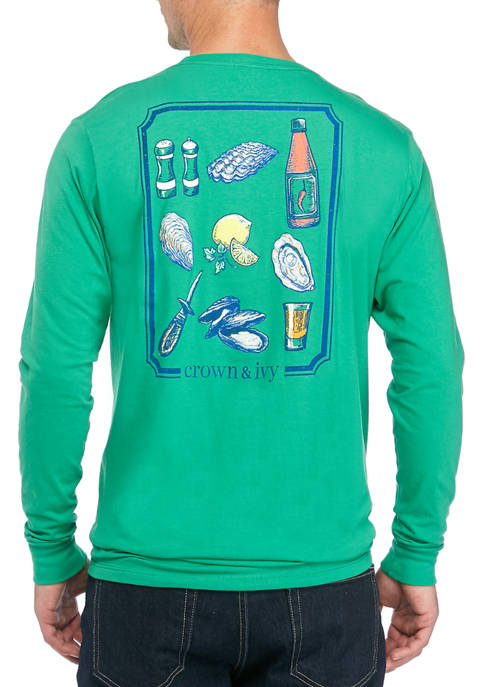 Crown & Ivy™ Mens Long Sleeve Oyster Bar