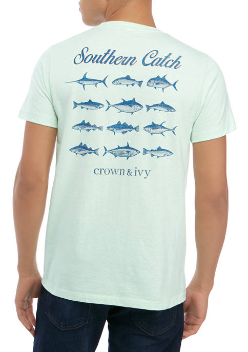 Crown & Ivy™ Mens Short Sleeve Southern Catch