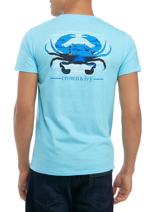 Crown & Ivy™ Mens Short Sleeve Crab House