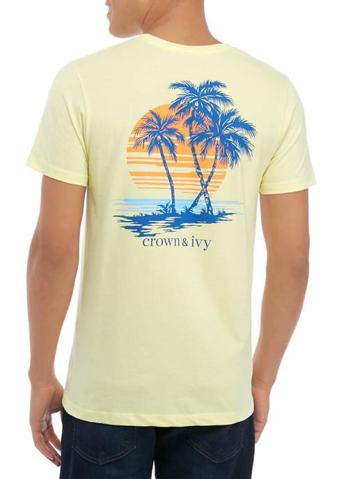 Crown & Ivy™ Mens Short Sleeve Palm T-Shirt