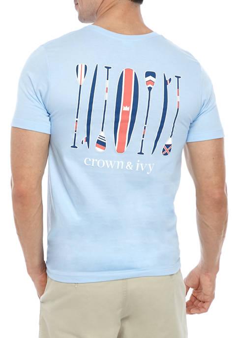 Crown & Ivy™ Mens Short Sleeve Paddle Board