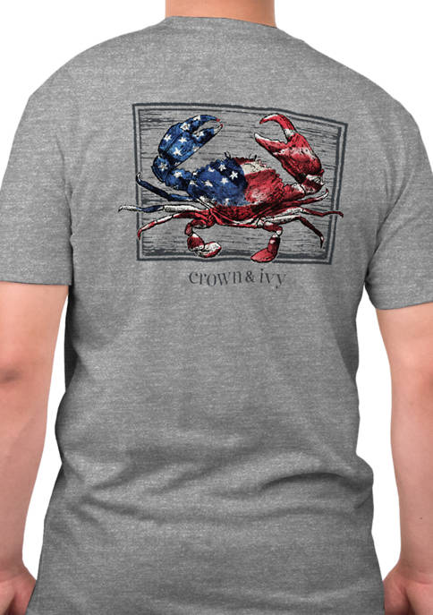 Crown & Ivy™ Short Sleeve American Crab Graphic
