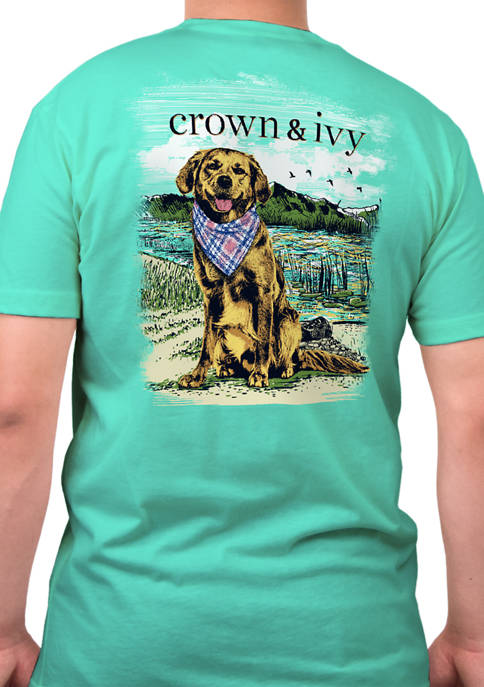 Crown & Ivy™ Short Sleeve Bandana Dog Graphic