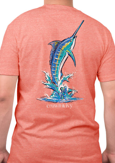 Crown & Ivy™ Short Sleeve Painted Marlin Graphic