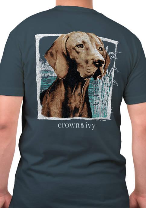 Short Sleeve Hunting Dog Graphic T-Shirt
