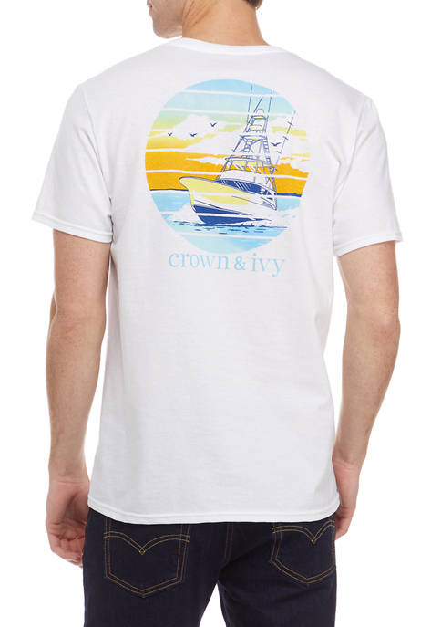 Crown & Ivy™ Short Sleeve Sport Water Graphic