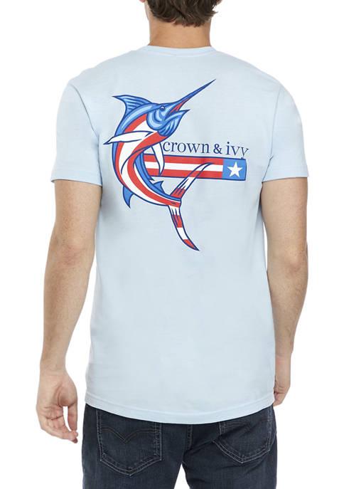 Crown & Ivy™ Americana Marlin Graphic T-Shirt