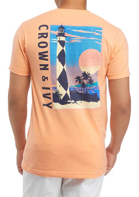 Crown & Ivy™ Short Sleeve Light Coast Graphic