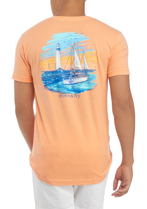 Crown & Ivy™ Short Sleeve Bay Dock Graphic