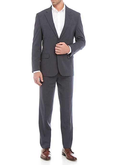 Nautica Two Button Plaid Suit