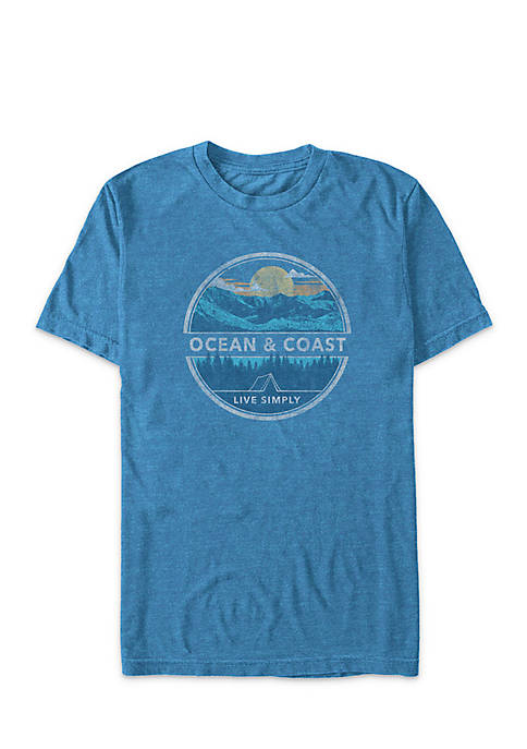 Ocean & Coast® Short Sleeve Live Simply Graphic