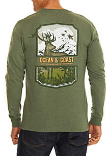 Long Sleeve Cotton Southern Outfitter Buck Tee