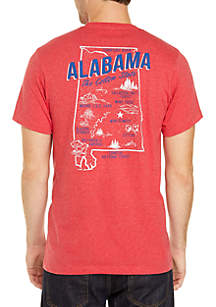 Ocean & Coast® Alabama Screen Print T-Shirt