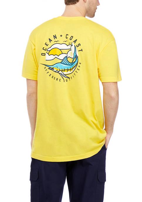 Ocean + Coast® Short Sleeve Marlin Graphic T-Shirt