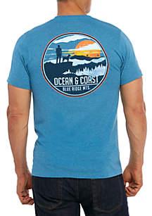Blue Ridge Graphic Print Short Sleeve Shirt