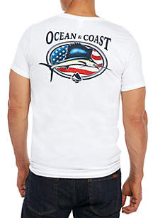 Swordfish Graphic Print Short Sleeve Shirt