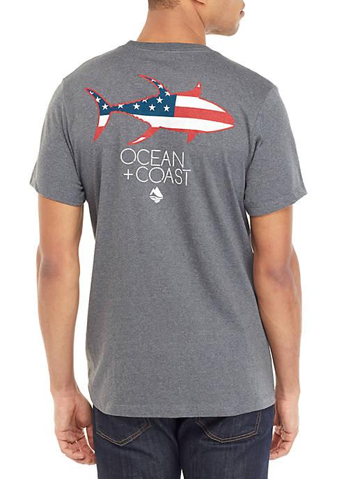 Ocean & Coast® Ocean Flag Graphic T Shirt