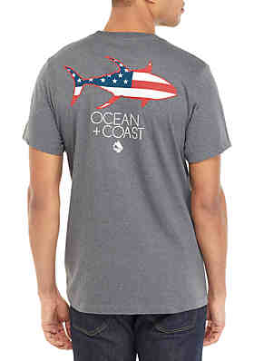 4187c20d Ocean & Coast® Ocean Flag Graphic T Shirt ...