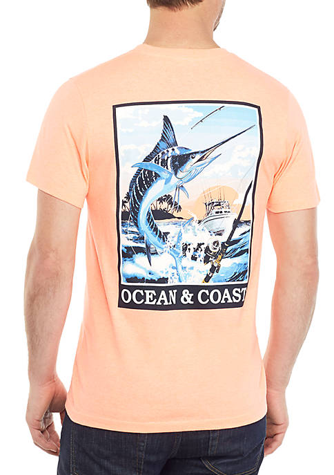Ocean & Coast® Marlin Poster Graphic T Shirt