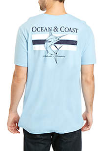 Ocean & Coast® Light Blue Fish Graphic T-Shirt