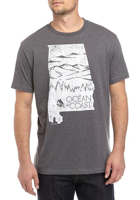 Ocean & Coast® Mens Alabama Woods Graphic T-Shirt
