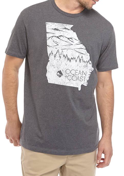 Ocean & Coast® Mens Georgia Woods Graphic T-Shirt
