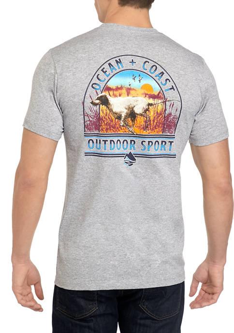 Ocean & Coast® Mens Short Sleeve Dawn Hunt