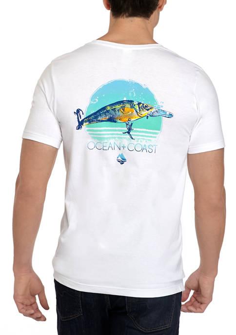 Ocean & Coast® Mens Short Sleeve Fishing Lure