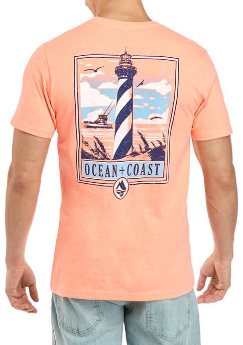 Ocean & Coast® Short Sleeve Lighthouse Graphic T-Shirt