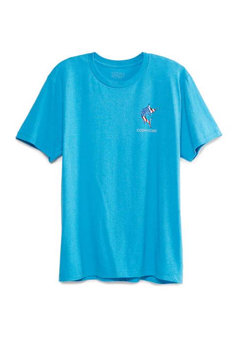 Ocean & Coast® Mens Americana Marlin Graphic T-Shirt