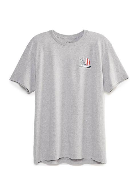 Mens Americana Boat Short Sleeve T-Shirt
