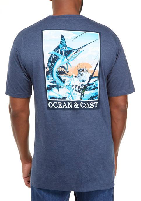 Big & Tall Marlin Poster Graphic T-Shirt