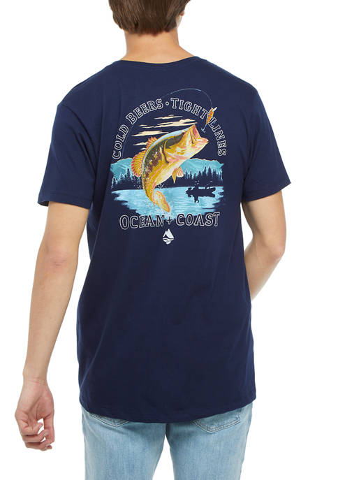 Short Sleeve Tight Lines Graphic T-Shirt