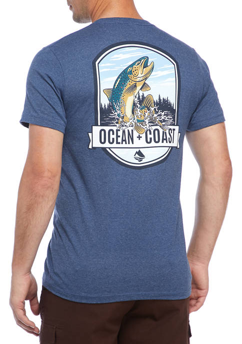 Ocean & Coast® Jumping Trout Short Sleeve Graphic