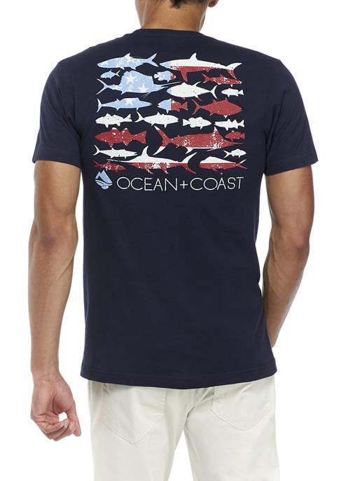 Ocean + Coast® American Coast Graphic T-Shirt