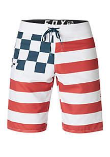 FOX RACING Patriotic Swim Board Shorts