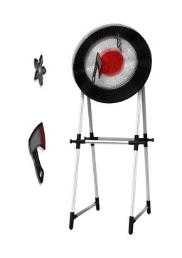 Saddlebred Axe and Throwing Star Target Set Game