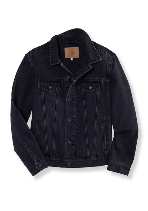 Black Wash Denim Trucker Jacket