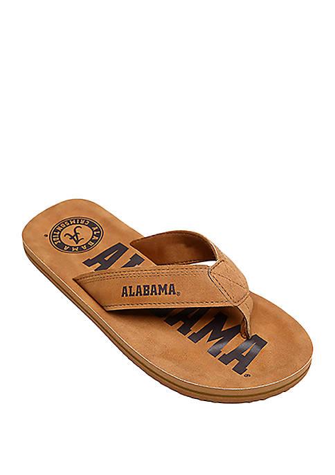 FOCO Alabama Crimson Tide Contour Distressed Flip Flops