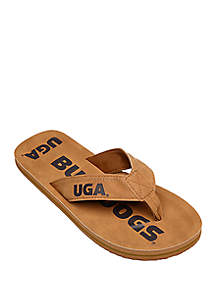 FOCO Georgia Bulldogs Contour Distressed Flip Flops