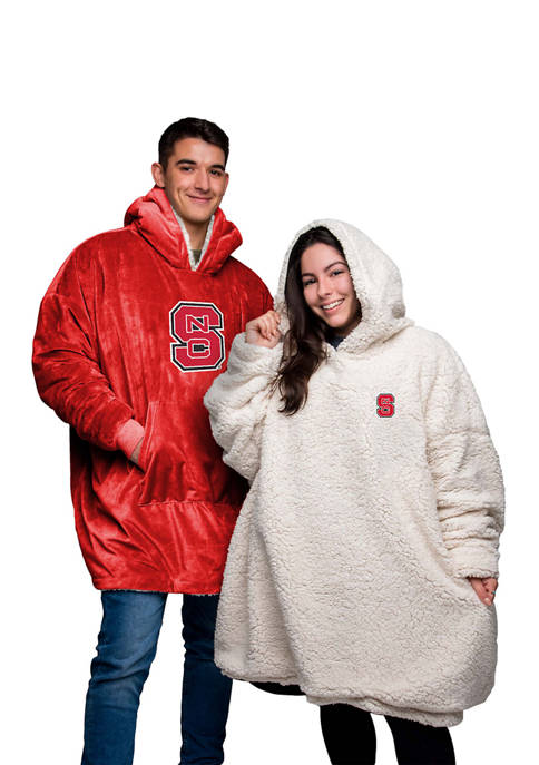 Team Beans NCAA NC State Wolfpack Oversized Sherpa