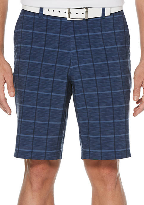 JACK NICKLAUS Heather Plaid Printed Shorts